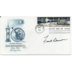 Frank Borman Apollo Gemini genuine authentic autograph signed FDC.