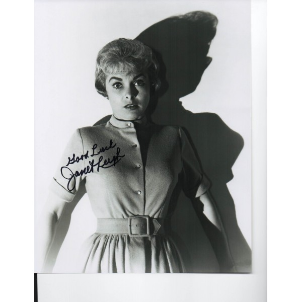 Janet Leigh Psycho genuine authentic autograph signed photo.
