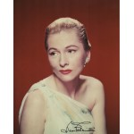 Joan Fontaine genuine authentic autograph signed photo.