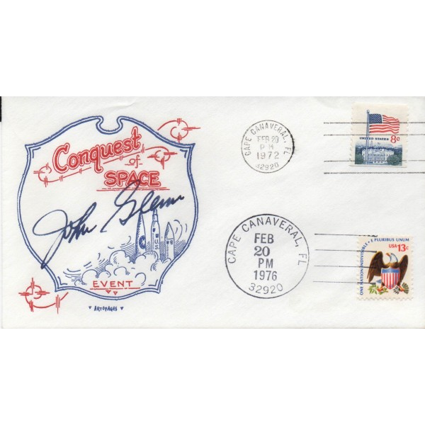 John Glenn Mercury genuine authentic signed autograph cover 3