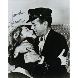 Lauren Bacall Bogart genuine authentic autograph signed photo.