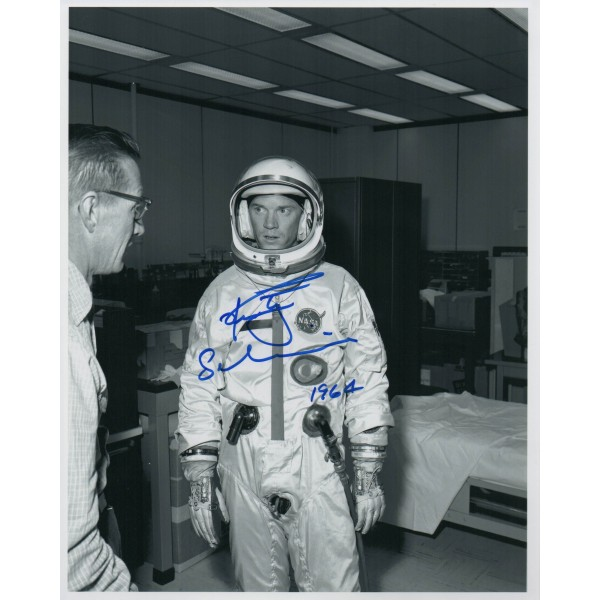 Rusty Schweickart Apollo genuine authentic autograph signed photo.