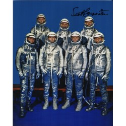 Scott Carpenter Mercury genuine authentic autograph signed photo.