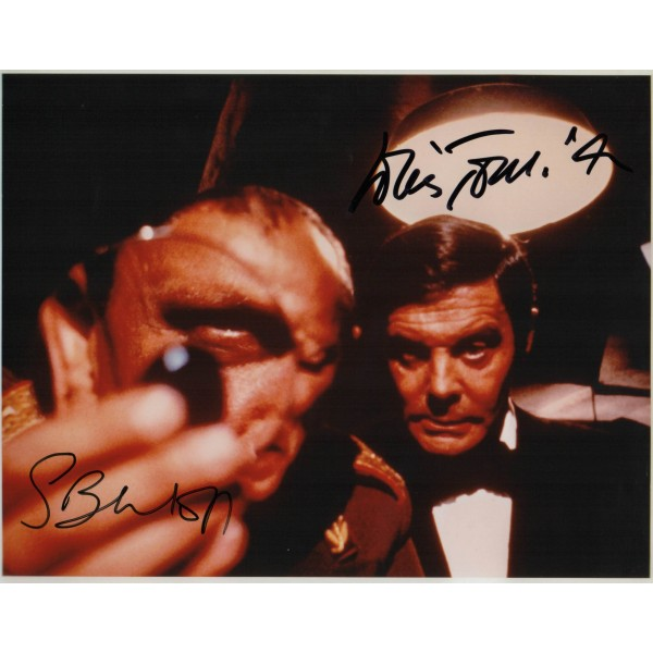 Steven Berkoff Louis Jourdan James Bond genuine authentic signed autograph photo