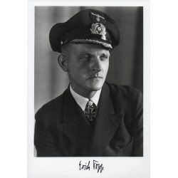 WW2 Erich Topp German U Boat 552 authentic signed autograph photo