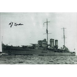 WW2 HMS Exeter signed Jack London photo