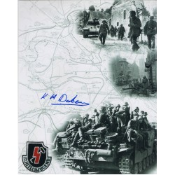 WW2 Karl Heinz-Dekker authentic genuine signed autograph photo 2