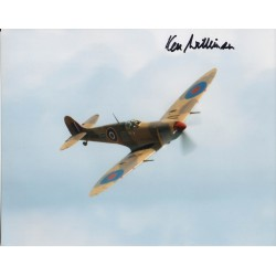 WW2 Spitfire pilot Ken Wilkinson signed autograph photo 3