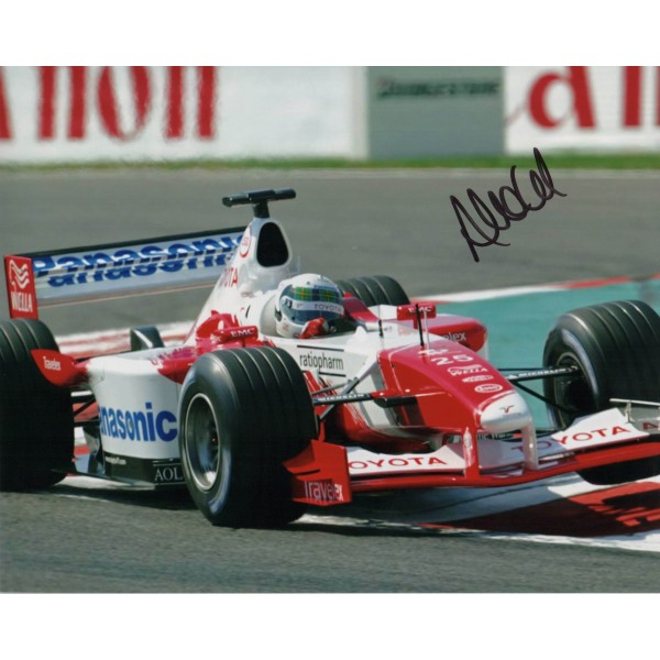 Allan McNish F1 Toyota genuine authentic signed autograph photo