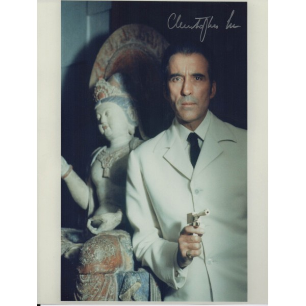 Christopher Lee James Bond genuine authentic signed autograph photo