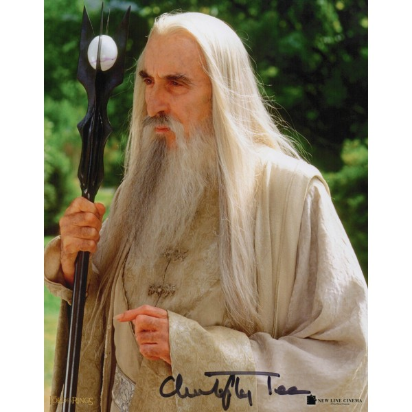 Christopher Lee Lord Rings genuine authentic signed autograph photo 7
