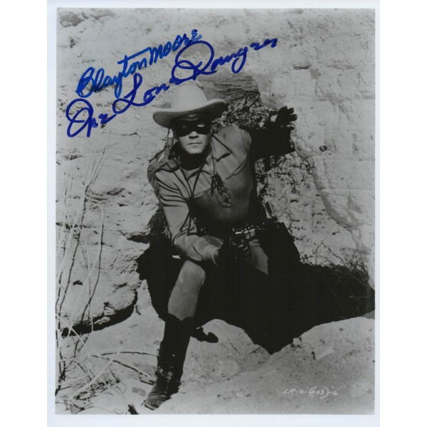 Clayton Moore Lone Ranger genuine authentic signed autograph photo
