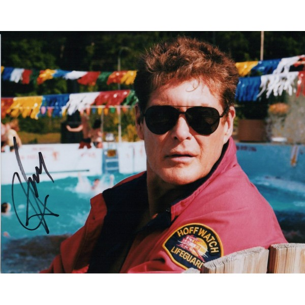 David Hasselhoff Baywatch genuine authentic signed autograph photo