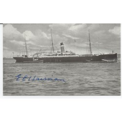 EE Haisman Titanic Survivor genuine authentic signed autograph image