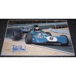 Jackie Stewart Ford large authentic genuine signed autograph image 3