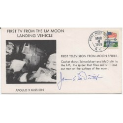 James Jim McDivtt  Apollo  Gemini FDC genuine authentic signed autograph image