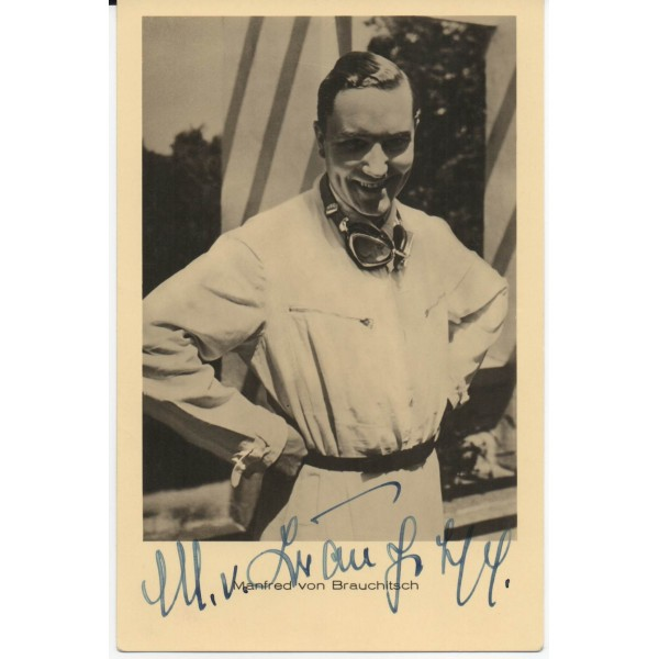 Manfred Von Brauchitsch Mercedes genuine authentic signed autograph photo