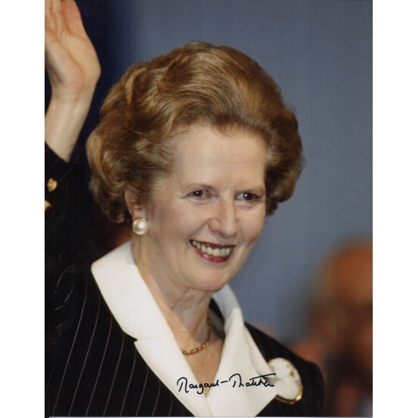 Margaret Thatcher PM genuine authentic signed autograph photo
