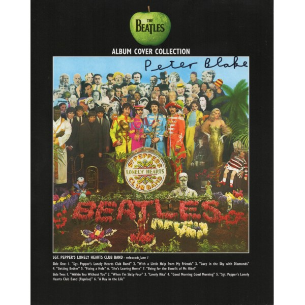 Peter Blake Beatles genuine authentic signed autograph photo