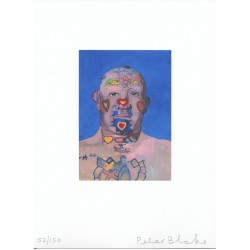 Peter Blake Ltd edition print genuine authentic signed Tattooed Man
