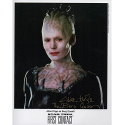 Alice Krige Star Trek genuine authentic autograph signed photo