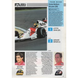 Ayrton Senna Berger Mclaren F1 genuine authentic autograph signed program