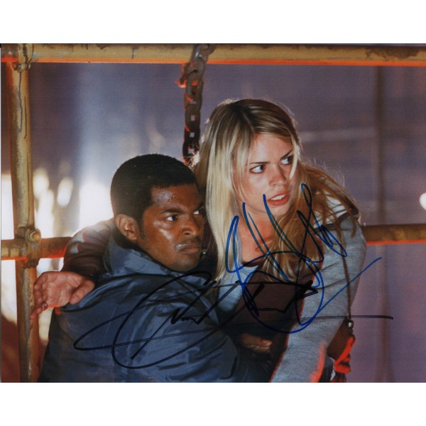 Doctor Who Noel Clarke Billie Piper genuine authentic autograph signed photo