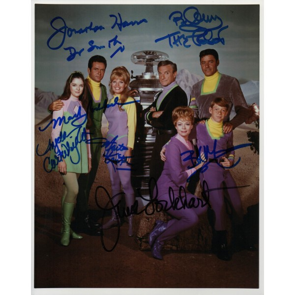 Jonathan Harris multi signed Lost in Space genuine authentic autograph signed photo