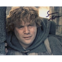 SOLD Sean Astin Lord Rings genuine authentic autograph signed photo