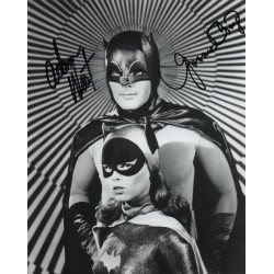 SOLD Adam West Yvonne Craig Batman genuine signed authentic autograph photo