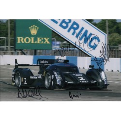 Alan McNish Kristensen Capello Joest Audi authentic autograph signed photo