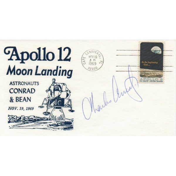 "Charles ""pete' Conrad Apollo 12 genuine authentic signed autograph FDC"