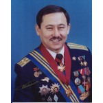 Cosmonaut Talgat Musabayev authentic signed autograph photo