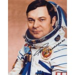 Cosmonaut Yuri Romanenko authentic signed autograph colour photo