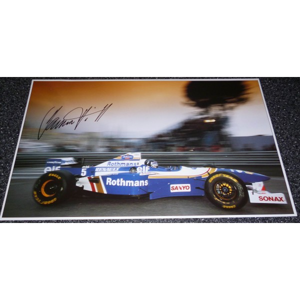 Damon Hill Williams F1 genuine authentic signed autograph image