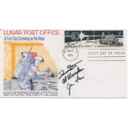 Jim Irwin Dave Scott Worden Apollo 15 genuine authentic autograph signed FDC