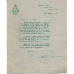 Mountbatten of Burma genuine authentic autograph signed letter