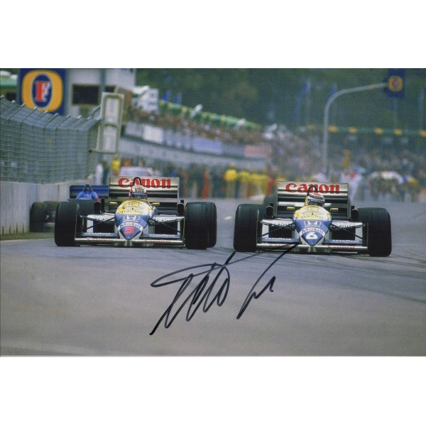 Nelson Piquet F1 Williams genuine signed authentic autograph photo 4