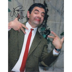 Rowan Atkinson Mr Bean Comedy signed genuine autograph colour photo