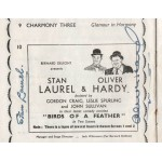 Stan Laurel Oliver Hardy comedy genuine authentic signed programme
