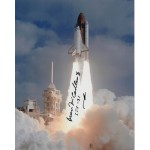 STS 41b Bruce McCandless astronaut signed photo.