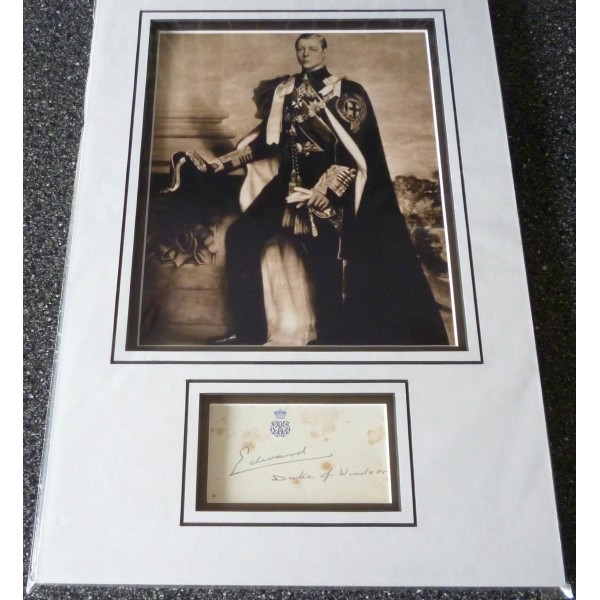 Duke of Windsor Edward VIII genuine authentic autograph signature and photo