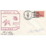 Ed Mitchell Apollo 14 Space genuine authentic signed autograph postcard