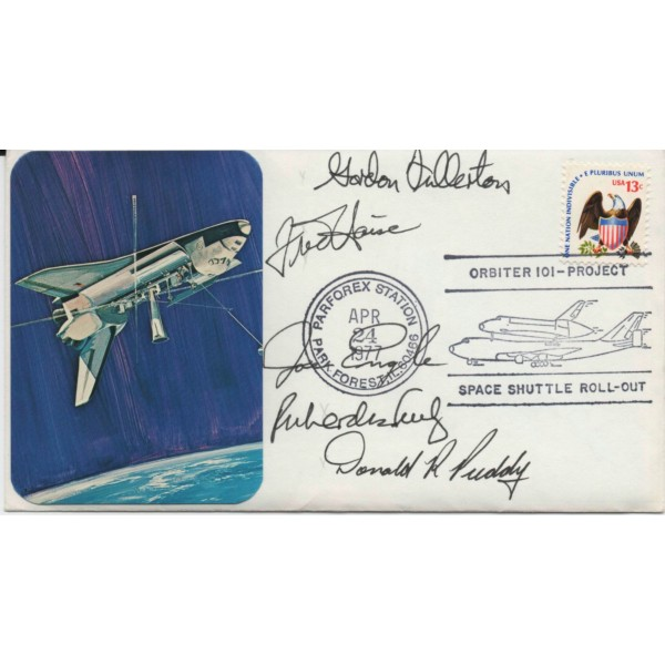 Fred Haise Fullerton Engle Truly genuine authentic autograph signature FDC
