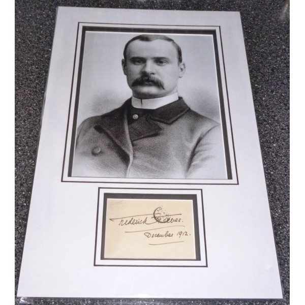 Frederick Treves Elephant Man genuine authentic signed autograph display