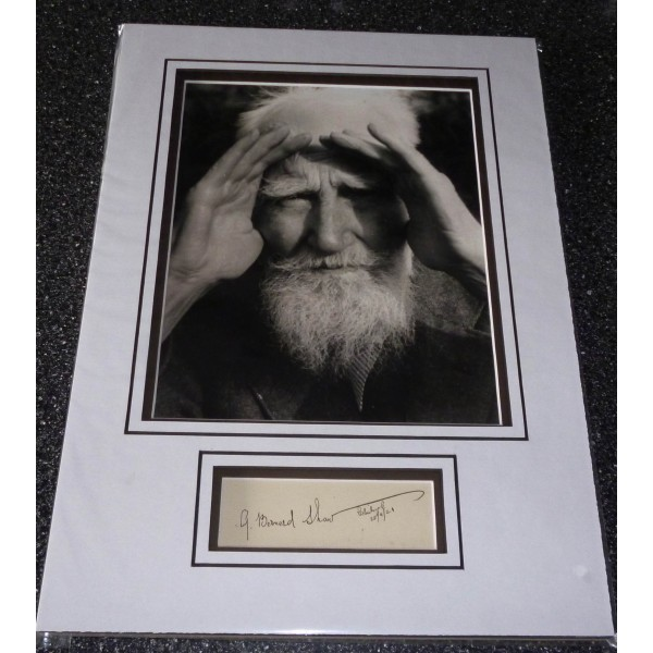 George Bernard Shaw genuine authentic signed autograph display