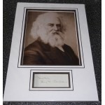 Henry W Longfellow genuine authentic signed autograph display