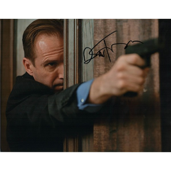 James Bond Ralf Fiennes genuine signed authentic signature photo