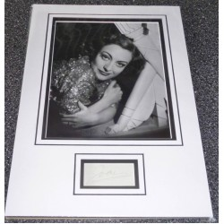 Joan Crawford genuine authentic signed autograph display