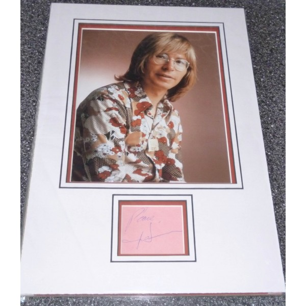 John Denver Music genuine authentic signed autograph display